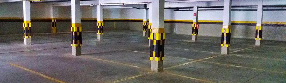 Foto do estacionamento do Hotel